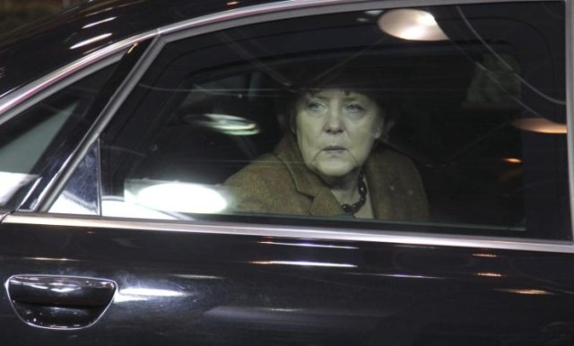 Angela Merkel in her Audi A8 L Security Edition