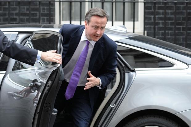 British Prime Minister David Cameron get