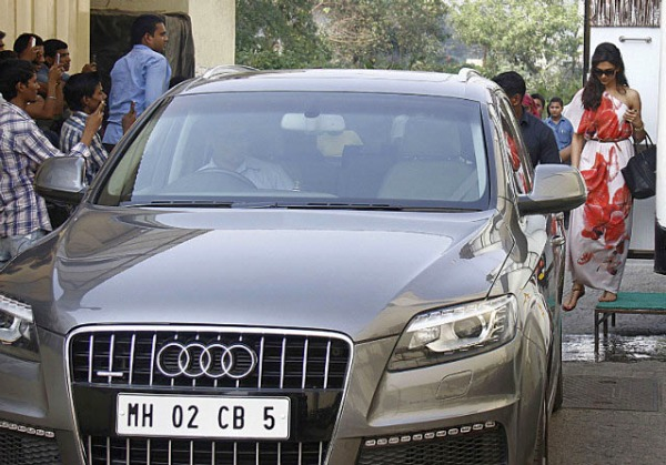 Deepika Padukone with her Audi Q7 Luxury SUV