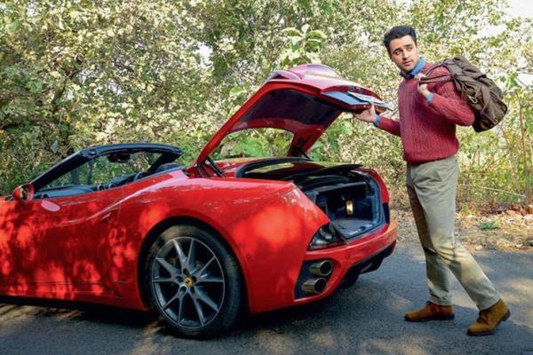 Imran Khan with his Ferrari California 1