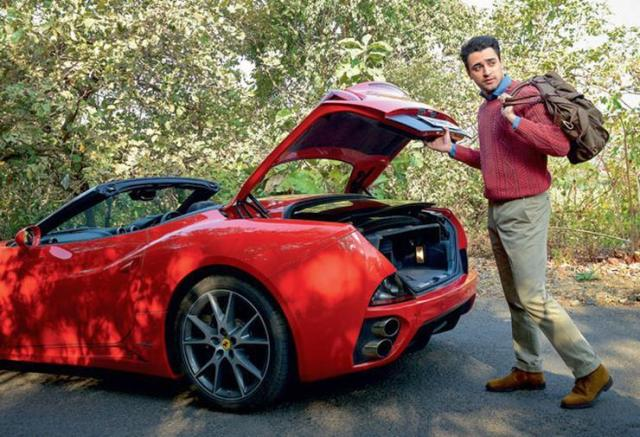 Imran Khan with his Ferrari California 1