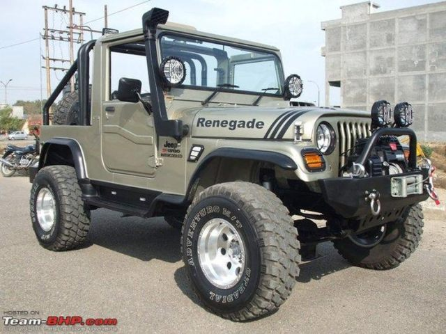 Mahindra Jeep with lift kit