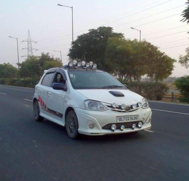 Toyota Etios Liva with Multiple Lights