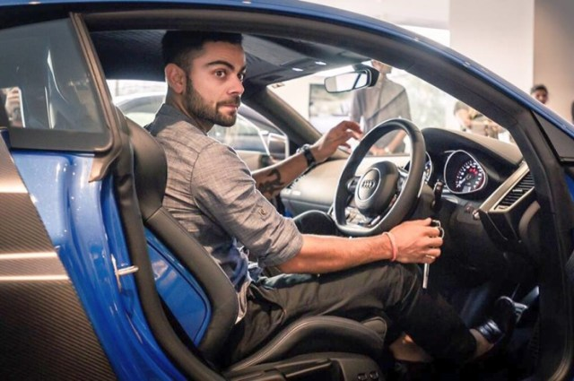Virat Kohli in his Audi R8 LMX Supercar 3