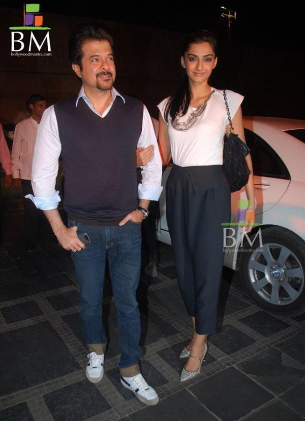 Anil Kapoor and Sonam Kapoor with the W221 Mercedes Benz S-Class