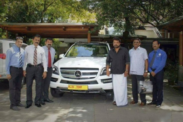 Mohanlal with his Mercedes Benz GL350 CDI SUV