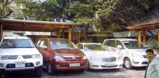 Mohanlal with his cars