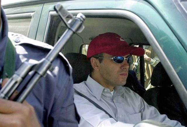 Omar Abdullah in his Range Rover SUV