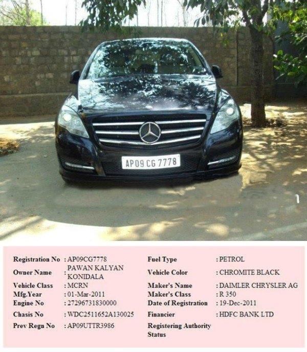 Pawan Kalyan's Mercedes Benz R-Class