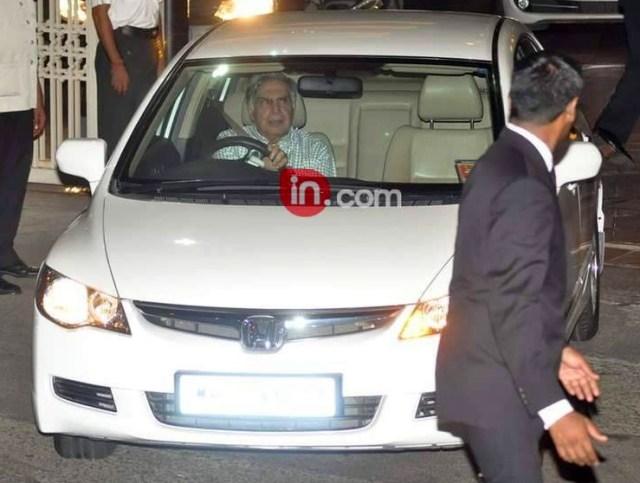 Ratan Tata in his Honda Civic