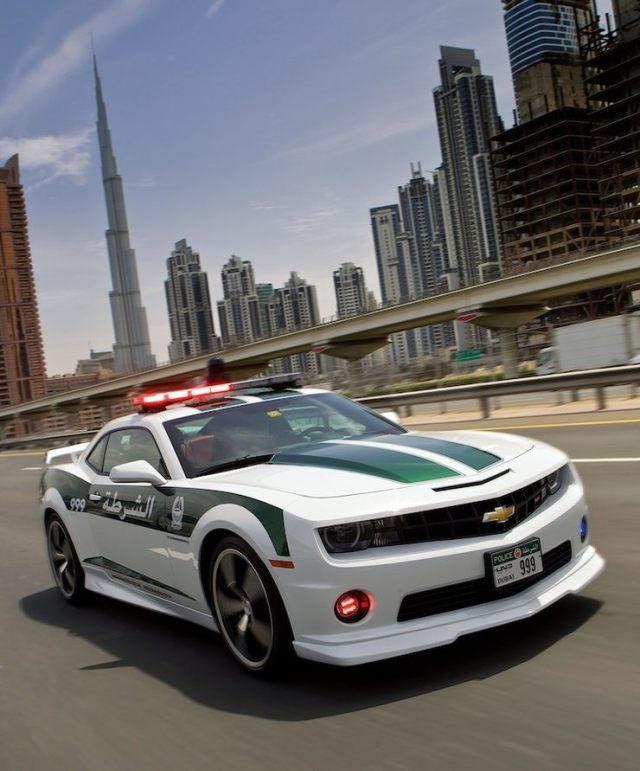 The Chevrolet Camaro of the Dubai Police