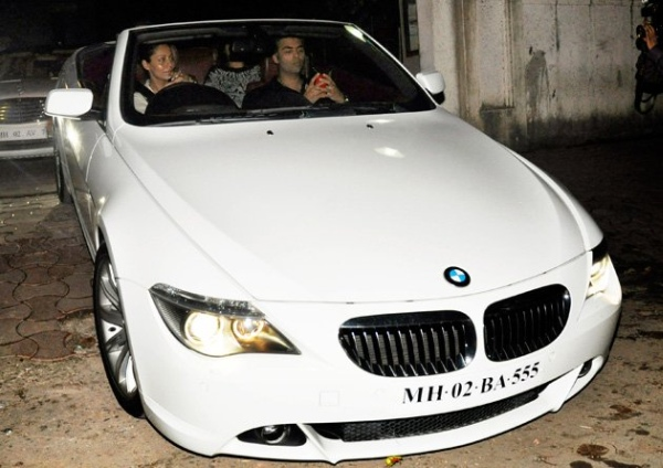 Gauri Khan in the BMW 6-Series Convertible