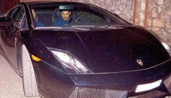 John Abraham with his Lamborghini Gallardo