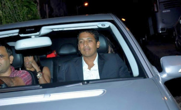 Mahesh Bhupathi with his Mercedes Benz E-Class