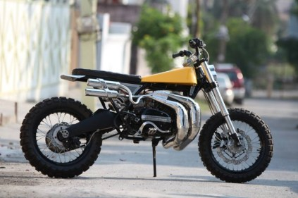 Motoexotica's Yamaha RD350 Scrambler Eight 3