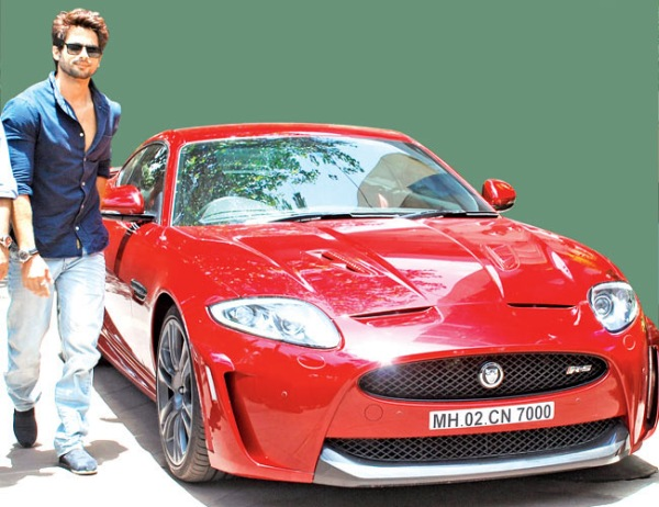 Shahid Kapoor with his Jaguar XKR-S