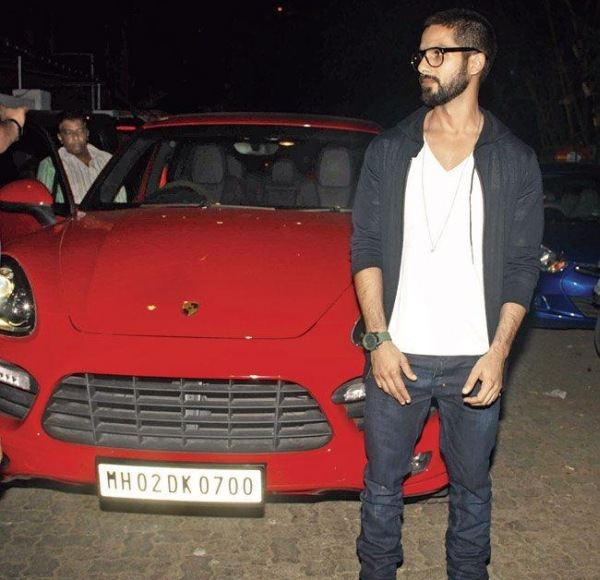 Shahid Kapoor with his Porsche Cayenne GTS