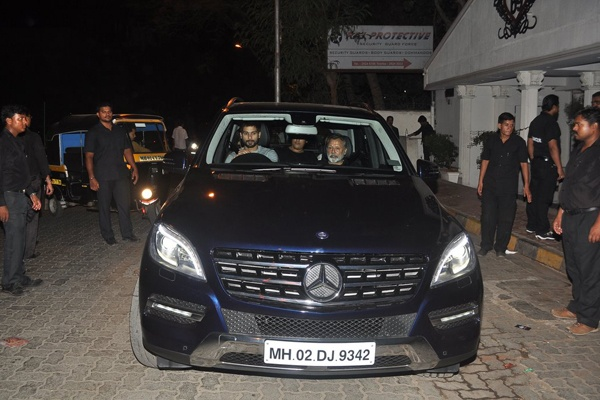 Shahid Kapoor with his dad's Mercedes Benz ML-Class