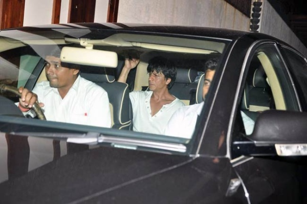 Shahrukh Khan with his BMW 7-Series 760 Li