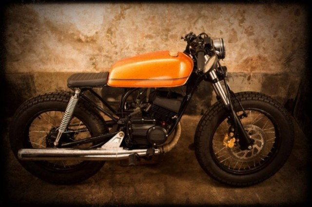 Bombay Custom Works' Yamaha RX135 Cafe Racer 1
