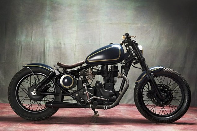 Bull city Customs' Royal Enfield Electra based Cruiser Custom 1