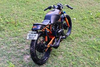Iron Soul Machines' Pardus Yamaha RX135 Cafe Racer Custom 4