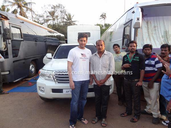 Mahesh Babu with his Toyota Land Cruiser