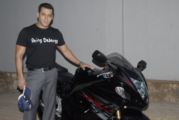 Salman Khan with his Suzuki Hayabusa