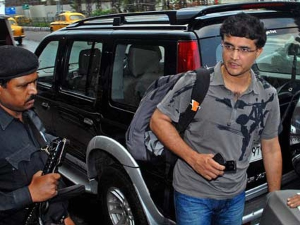 Saurav Ganguly with his Ford Endeavour