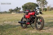 Crossover Kustoms' Yamaha RX135 Cafe Racer 2