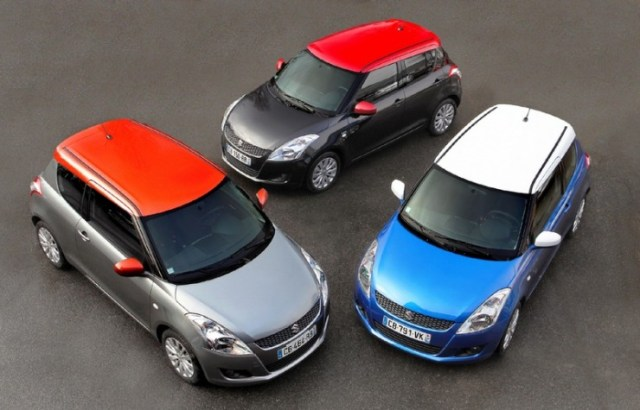 Maruti Suzuki Swift with a Contrast Roof