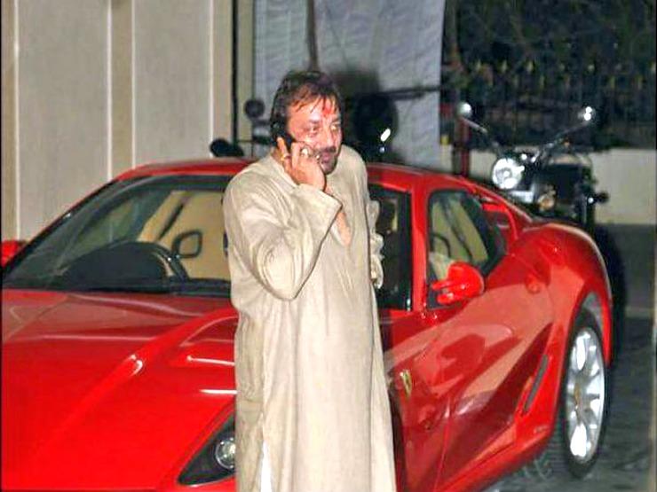 Charming Sanjay Dutt With His Ferrari 599 GTB Idea