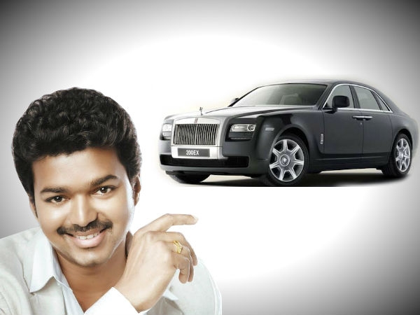 Actor Vijay with his Rolls Royce
