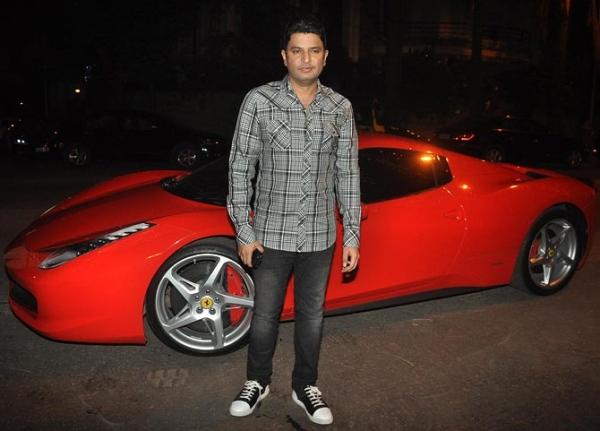 Bhushan Kumar With His Ferrari 458