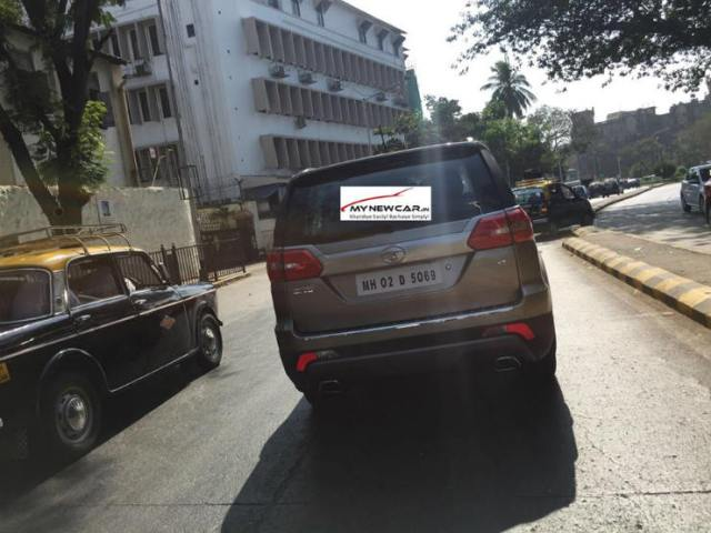 Tata Hexa Rear Spotted