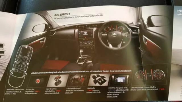 Toyota Fortuner TRD Sportivo Interior