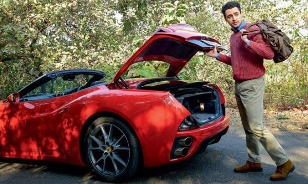 Imran Khan with his Ferrari California