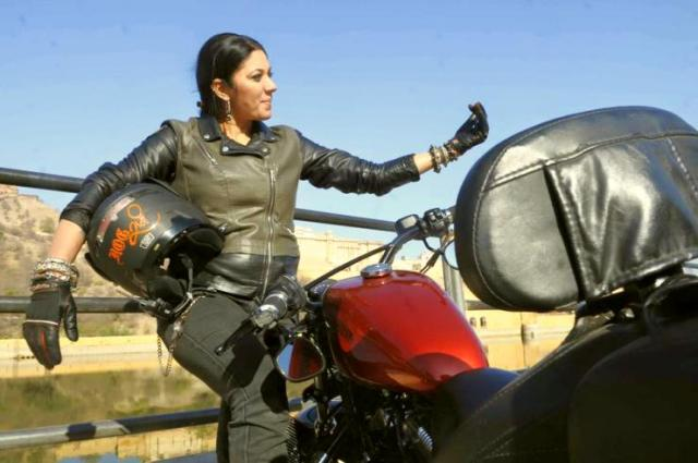 Veenu Paliwal on a Harley Davidson Sportster 2