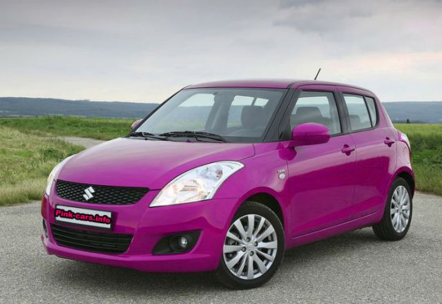 Pink Suzuki Swift 2011 model