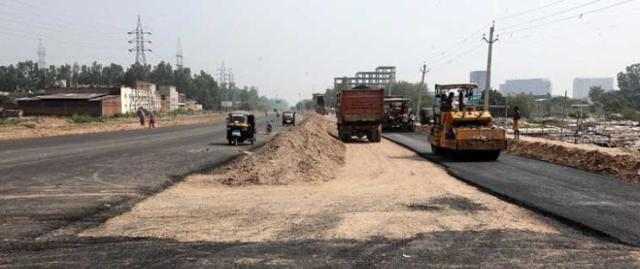 Under construction road in India