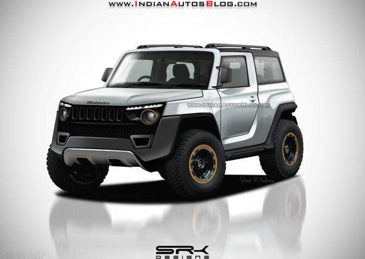 Future Thars 5 Render Designs Of The Next Gen Mahindra Thar