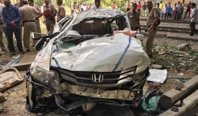 Honda City Punjabi Bagh Crash 2