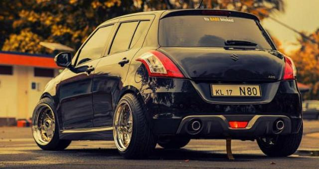 Maruti Swift with modified exhaust