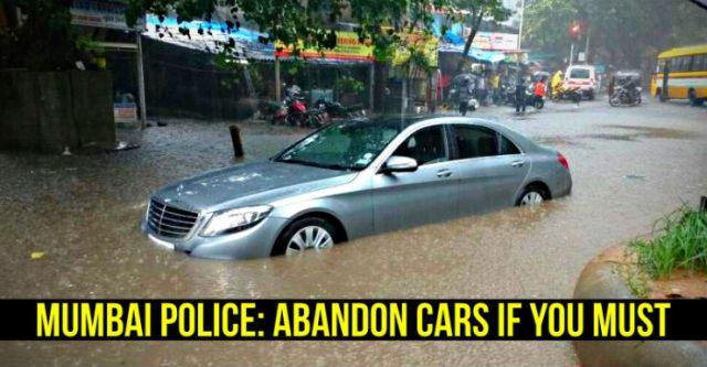 Mercedes Benz S-Class stuck in Mumbai rains floods featured