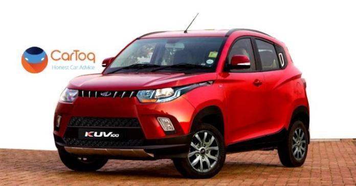 2017 Mahindra KUV100 Facelift in Red