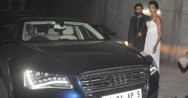 Deepika Padukone with her Audi A8
