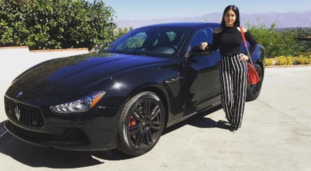 Sunny Leone with her Maserati Ghibli