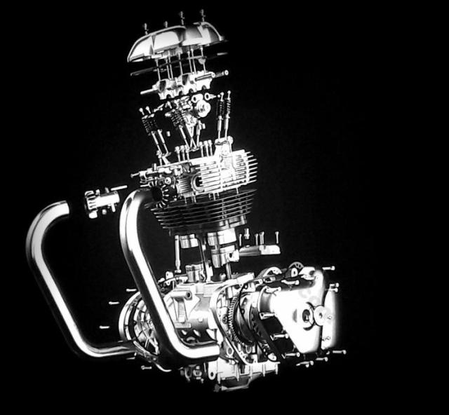 Royal Enfield 650cc Engine Exploded View