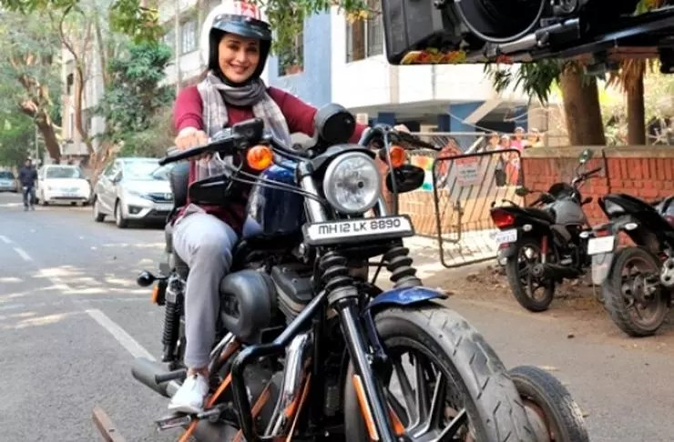 Harley Davidson Movie: Movie Star Madhuri Dixit Spotted On A Harley Davidson