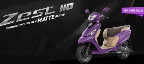 TVS Scooty Zest 110 Matte Series Purple Images